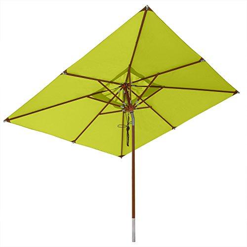 anndora® Sonnenschirm Knicker 3 x 3 m eckig wasserabweisend - mit Winddach Apfelgrün/Limette