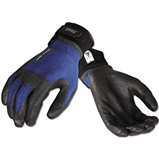 Ansell 97-002-XL ActivArmr Cut HVAC Resistant Gloves with Stainless Steel and DuPont Kevlar, Foam Nitrile Grip, Adjustable Cuff, Extra Large