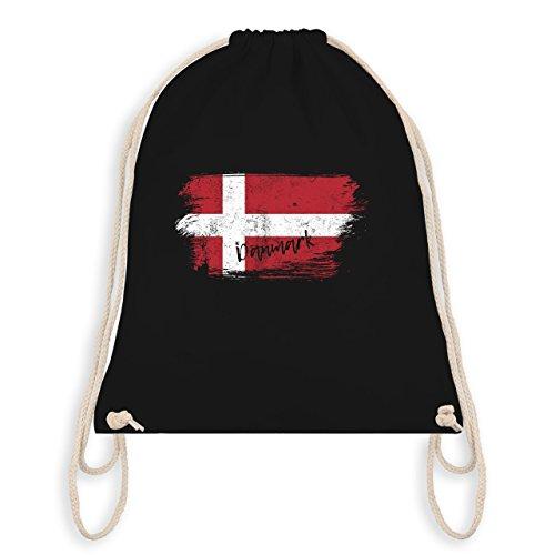 Fußball-Weltmeisterschaft 2018 Kinder - Dänemark Vintage - Unisize - Schwarz - WM110 - Turnbeutel & Gym Bag