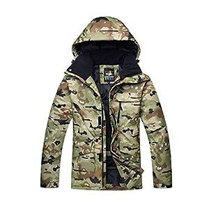 DOUSPORT Herren Skianzug Winddicht Wasserdicht Kältefest Warm/ Outdoor Sportswear Camouflage Ski Jacken Tragen