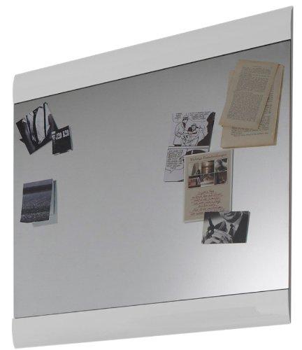 trendteam SN45101 Garderobenspiegel Wandspiegel weiss Hochglanz, BxHxT 71x73x2 cm