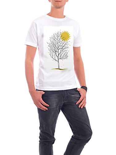 """Design T-Shirt Männer Continental Cotton """"Wintersonne"""" - stylisches Shirt Natur Weihnachten von OHKIMIKO Weiß"""