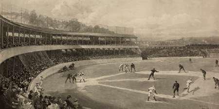Feelingathome-Leinwand-Bild-Baseball-Spiel-cm50x101-Kunstdruck-auf-Leinwand (Baseball Leinwand)