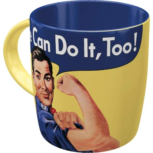 Nostalgic-Art We Can Do It Too-Special Edition Taza, cerámica, carbón, 8.5 x 8.5 x 9.5 cm