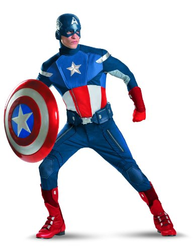 Evans America Chris Captain Kostüm - Marvel Avengers Captain America Theatrical Adult Costume (XX-Large)