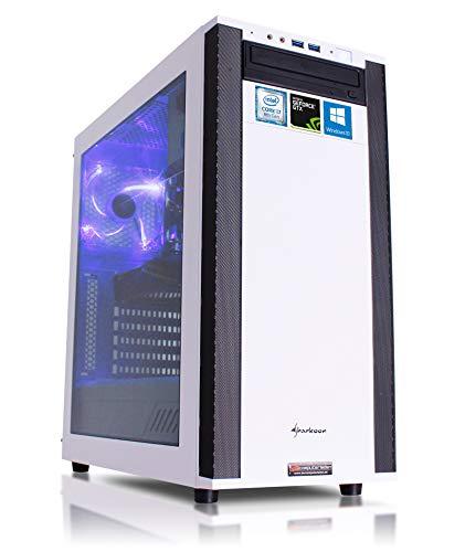 Gaming PC M25W Intel, i7-8700K 6x3.7 GHz, 2TB HDD + 240GB SSD, 16GB DDR4, GTX1080Ti 11GB, Windows 10, Spiele Computer zusammengestellt in Deutschland Desktop Rechner