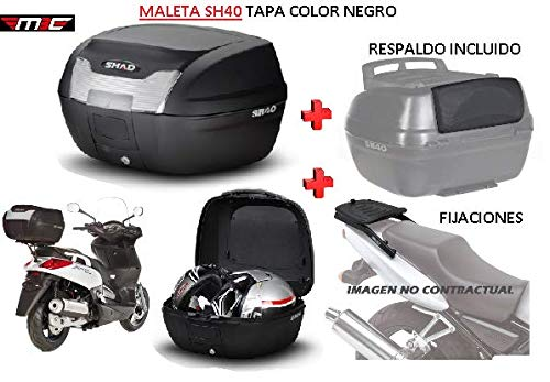 SHAD Kit BAUL Maleta Trasero SH40 litros + FIJACION