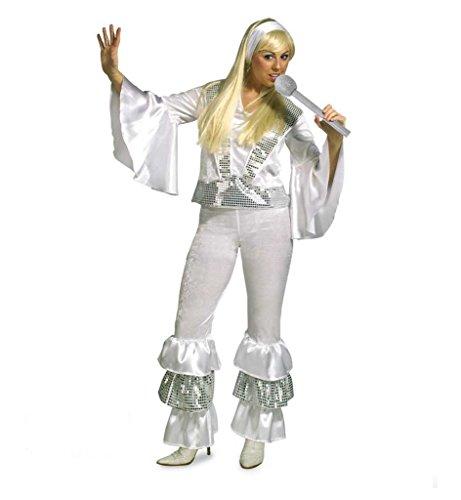 KarnevalsTeufel Damenkostüm Alena, 2-TLG. Kostüm bestehend aus Hose und Oberteil, Sängerin, Tänzerin, 70er-Jahre Hippie-Outfit (Zwei Fridas Kostüm)