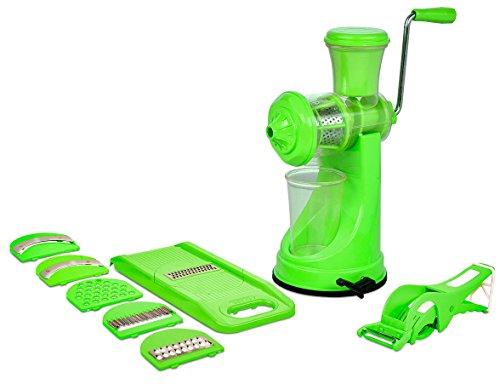Magikware Fruit Vegetable Hand Juicer, Slicer & Peeler Super Kitchen Combo Set (Green, Set of 9)