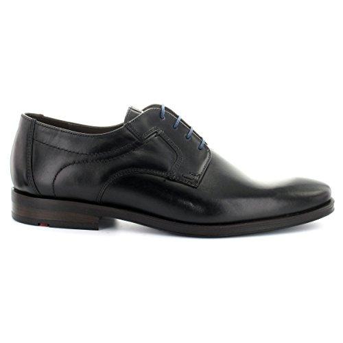 Lloyd 24-597-20 Glasgow Black - Business Stringata - Garibaldicalf - Suola In Gomma Nera