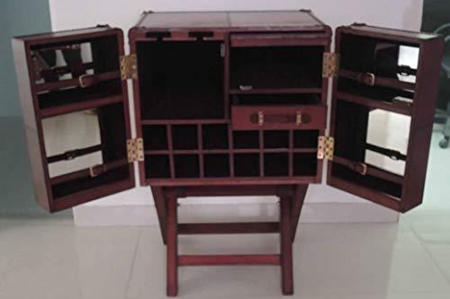 Casa Padrino Luxus Echtleder Barschrank Cognac Braun 61 x 52 x H. 93,5 cm - Kleiner Weinschrank mit 2 Türen im Koffer Design