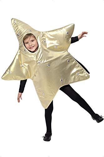 Stern Kostüm - Smiffys, Kinder Unisex Weihnachtsstern Kostüm, Tunika,