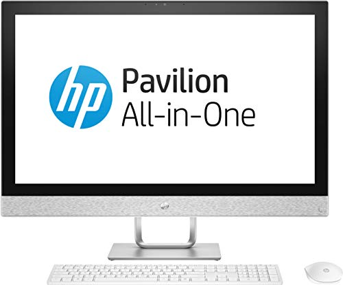 HP AIO Q Series HP 27 – qa180in -Pavilion 2018 27-inch All-in-One Desktop (8th Gen i7-8700T/16GB/2TB/Windows 10 Home/4 Graphics), Bilzzard White