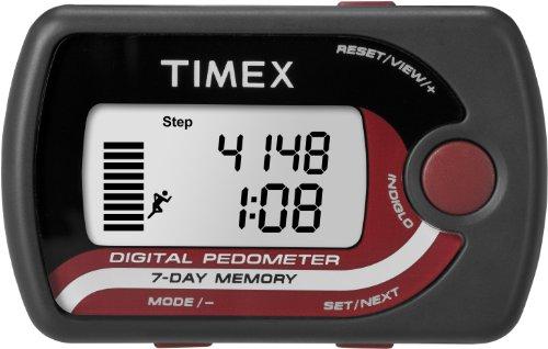 TIMEX PEDOMETER ACCELERATOR BLACK/RED