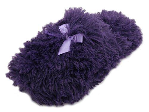 Senhoras Para Sempre Sonhando Longo Pele Sintética Abrir Volta Chinelo Mula-violeta