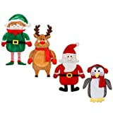 Delex® Brand New Novelty Shaped Hot Water Bottle - Santa/ Penguin/ Elf/ Reindeer
