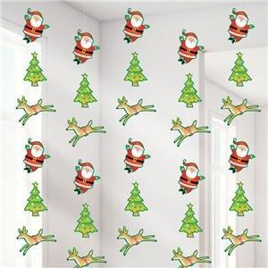 Reindeer & Santa String Dekoration - 2.1m Weihnachtsdekoration (6 Stk)