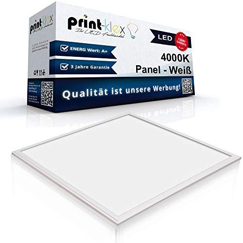 LED Panel Ultraslim 60x60cm Deckenleuchte Lampe Flächenleuchte 4000K-Neutralweiß 40W 3600 LM Weißer Rahmen - Office Plus Serie (Led-innenbeleuchtung Marine)
