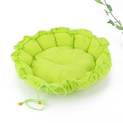 akooya mascota cachorro perro gato dormir cama cojín Mat perrera nido cálido casa verde
