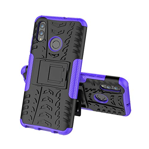 BOWFU per Huawei P Smart Z Cover,Tough Rugged[Heavy Duty][Hybrid 2 in 1][Staffa] Hard PC+TPU Armor Case per Huawei P Smart Z-Viola