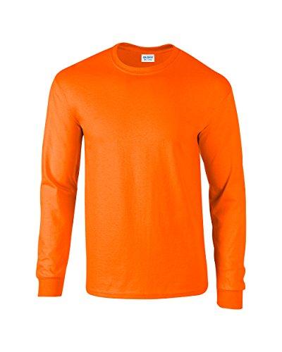 Gildan Ultra? Langarm T-Shirt Cotton Orange - Safety Orange