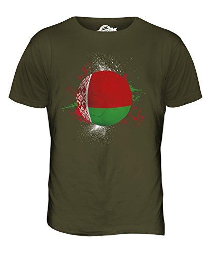 CandyMix Weißrussland Fußball Herren T Shirt Khaki Grün