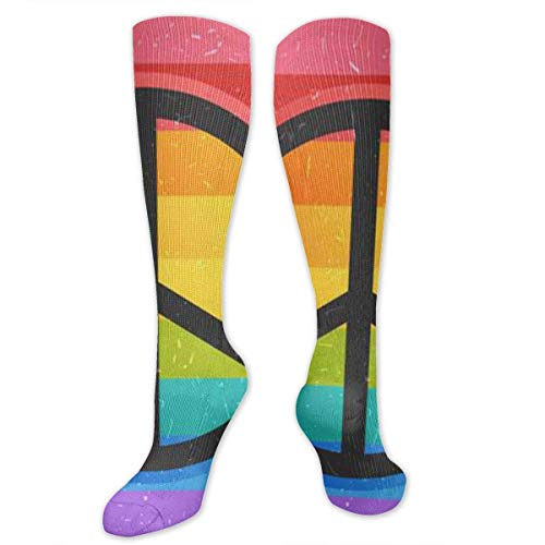 ace Love Sign Women Tube Stockings High Graduated Mid-Calf Socks ()