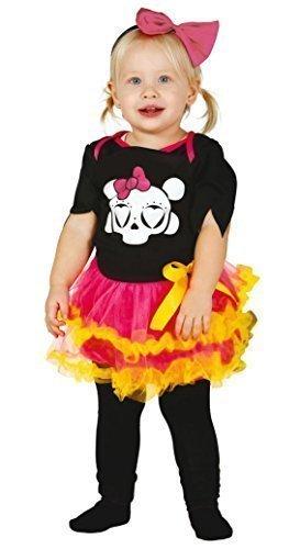 r Toten Zuckerschädel Tutu Halloween Kostüm Kleid Outfit - Multi, 6-12 Months (Tag Der Toten Baby Kostüm)