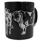 Tasse Kaffeebecher mit Print Kuh Bulle Rind Ochse 57432 schwarz