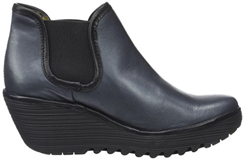FLY London Yat, Bottes Femme Bleu (Reef Black)