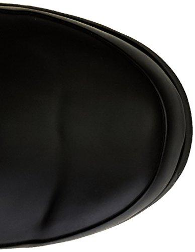 ROMIKA Romirub 01, Bottes en caoutchouc de hauteur moyenne, non doublées femme Noir - Noir