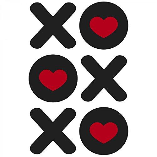 Fashionalarm Herren T-Shirt - XOXOXO Hugs And Kisses Herzen | Fun Shirt als Valentinstag & Jahrestag Geschenk Idee für verliebte Paare Weiß