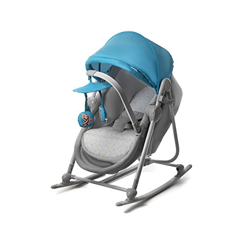 Kinderkraft Unimo Babywippe Babyschaukel Baby Wippe Liege Wiege Babysitz Top Neu Blau