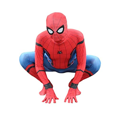 Spiderman Costume for Adult Kids Superhelden Kostüme Kinder Erwachsene - Spider-Man Homecoming Kostüm - Karneval Party Cosplay - 6-24 Jahre Alt,Adult-XL (Halloween-kostüm Kinder Alt Frau Für)