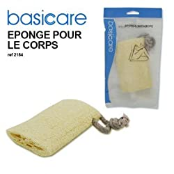 Basicare Natural Loofah Body Scurbber W Rope