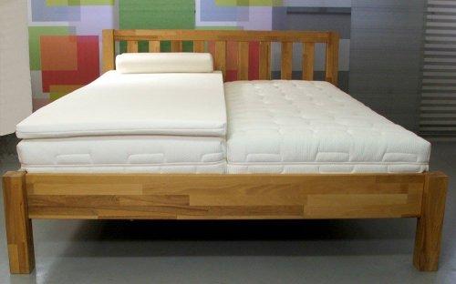 SW Bedding Viscoelastische Matratzenauflage 200 x 70 x 5cm H2 mit Bezug Ideal