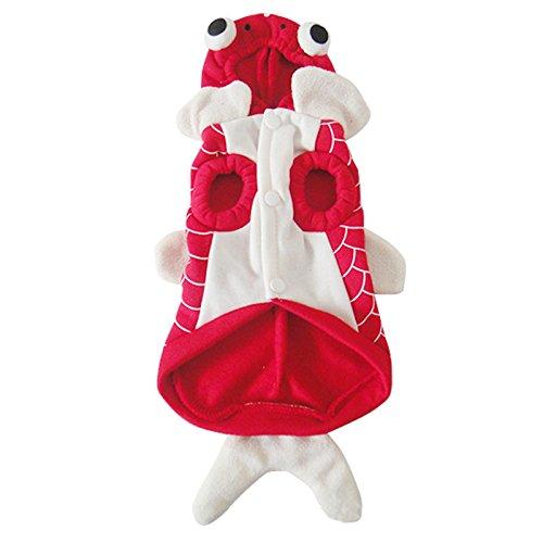 LQZ Haustierkostüm Haustier Kleidung für Größe Hunde Modell Goldfisch Halloween Weihnachten