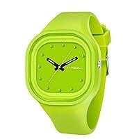 Aesy Candy Colors Student Night Light Sports Wrist Watches Waterproof Glowing Watch