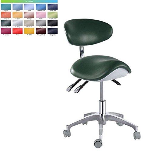 Office-stühle Dental (zgood Bürostuhl verstellbar Mobile Arbeiten der Ärzte Hocker PU-Leder)