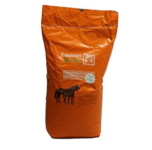 BASU Equimin 25 kg - pelletiertes mineralstoffreiches Ergänzungsfutter für Pferde und Ponys mit hohem Selen-Gehalt
