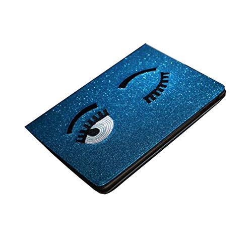 WLWLEO Für ipad2 / 3/4/5/6 / Mini4,2017New ipad Fall, Pu-Leder Shockproof Flip Kreative Schutzhülle mit Stand Auto Sleep/Wake,Blue,ipad5/6