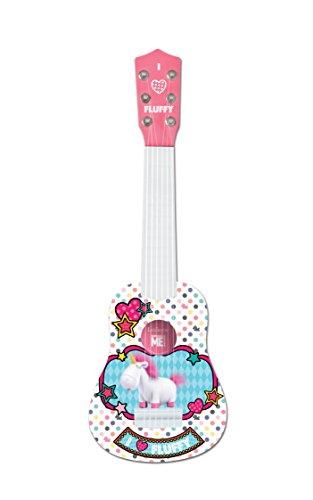 Gru: Mi Villano Favorito- Blandito el Unicornio de los Minions, GRU - Mi Primera Guitarra, 6 Cuerdas, 53 cm de Largo, Juguete niñas a Partir de 3 años (Lexibook K200DES1), Color Blanco (