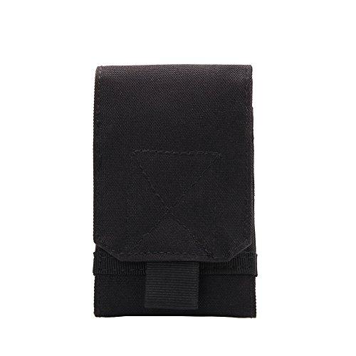 Handy-fall Schwarze (Shiningup Unterschiedliche Größe MOLLE Smartphone Holster Universal Army Handy Gürteltasche Holster Abdeckung Fall für Smartphone)