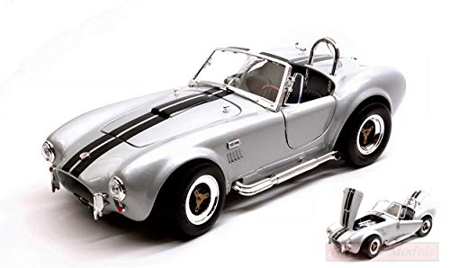 NEW Lucky Die Cast LDC92058GY Shelby Cobra 427 S/C 1964 Grey W/Black  Stripes 1:18
