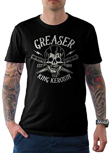 T-Shirt Schwarz Skull Edition 09-Greaser 2XL ()