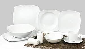 Combiné service de table + service à café 40 pièces Classic Elegance TK-800 - pour 6 personnes