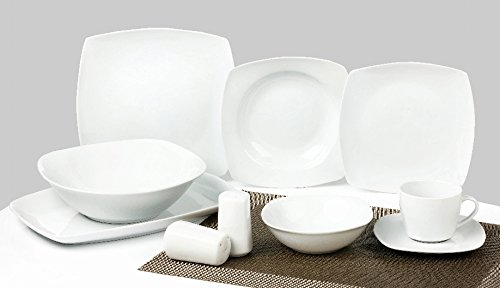 Topkapi 40Piezas Vajilla essservice Mixto Color Blanco Classic Elegance TK de 800