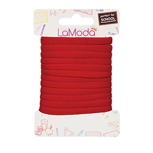 Lamoda princess morbido ponytailers, rosso, confezione da 12