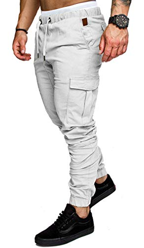ae69819aa1 Socluer Homme Pantalons Casual Jeans Sport Jogging Slim Fit Militaire Cargo  Montagne Baggy Pants Multi Poches