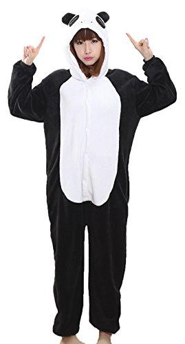 Panda Frauen Kostüme (Nicetage Cosplay Onesie Jumpsuits Anime Kostuem Erwachsene Pyjama Overall Hausanzug Kigurum Panda)